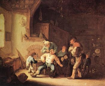 Adriaen Jansz Van Ostade : Barber Extracting of Tooth